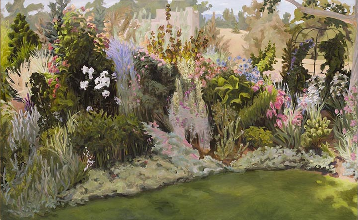 Partly Shaded Garden 52 X 84in Oil On Linen The Joellyn T